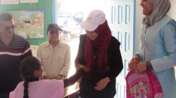 Action de distribution des fournitures scolaires à Thibar, Beja